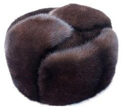 Herfst en winter nertsen bont toevallige hoed nertsen hoed bont hoed lei feng echt bont cap voor man GRATIS VERZENDING