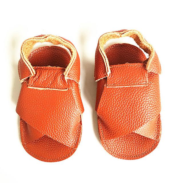 Meninos Sandálias de couro genuíno mocassins escavar Sapatas das meninas Da Criança Do Bebê Do Bebê Frete grátis
