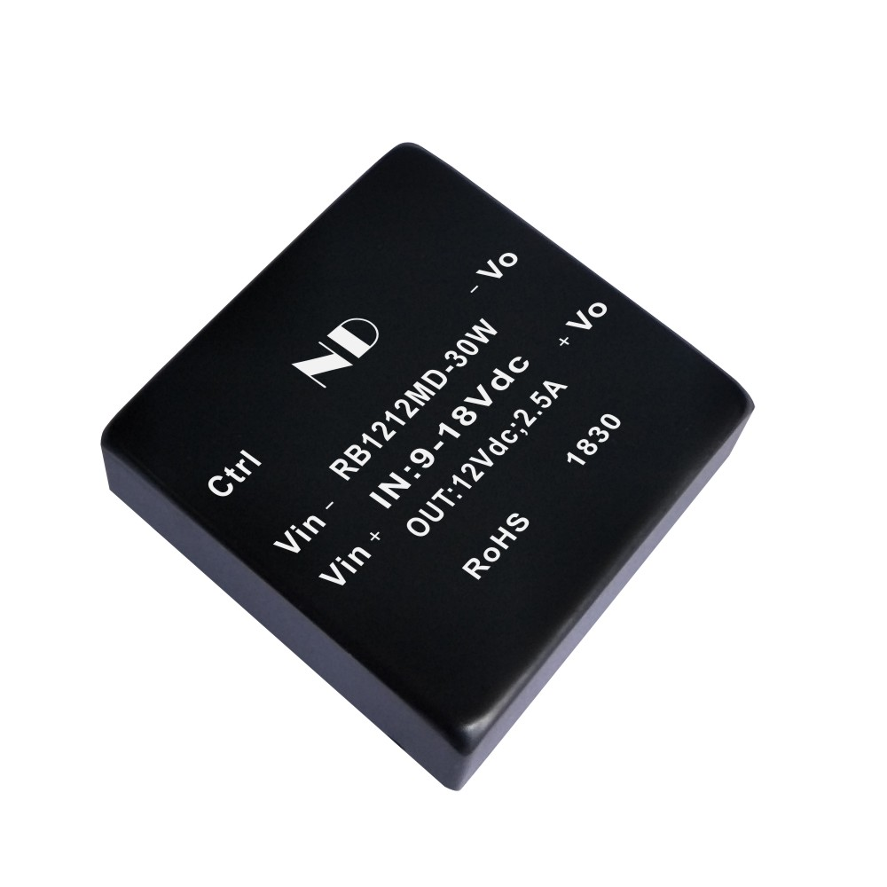 цена на 1pcs Industrial isolated dc dc converter 12V to 12V 2.5a regulated dcdc power module quality goods