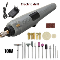 10W Mini Electric Drill Rotary Drill Tool Carving Wood Grinder Speed Home For Engraving Milling Grinding