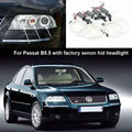For Volkswagen VW Passat B5.5 3BG 2001-2005 with factory xenon headlight CCFL Angel Eyes kit Ultrabright illumination Halo Ring