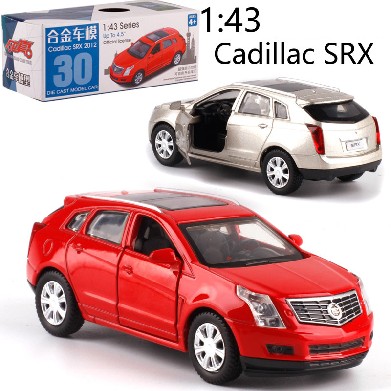 CAIPO 1:43 Cadillac SRX Alloy Pull-back Vehicle Model Diecast Metal Model Car For Boy Toy Collection Friend Children Gift
