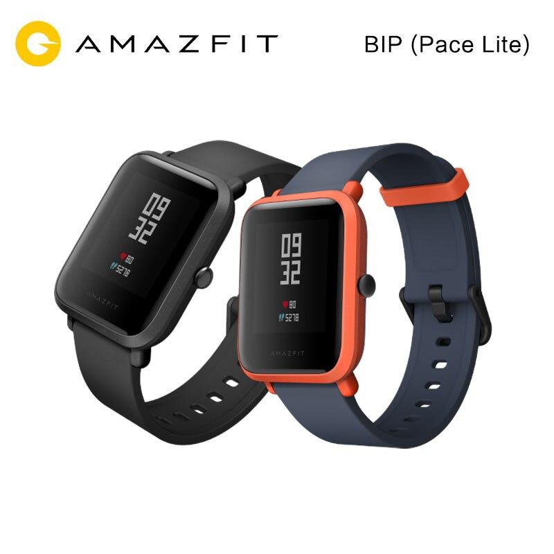 Английская версия Сяо Mi Amazfit смарт спортивные часы Хуа Mi Fit молодежное издание Bip бит темп Lite Водонепроницаемый GPS компасы сердечного ритма