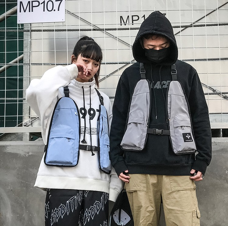 Hip-hop Kanye West Street Ins Hot Stijl Borst Rig Militaire Tactische Borst Tas Functionele Pakket Prechest Zak Vest Zak Liefhebbers