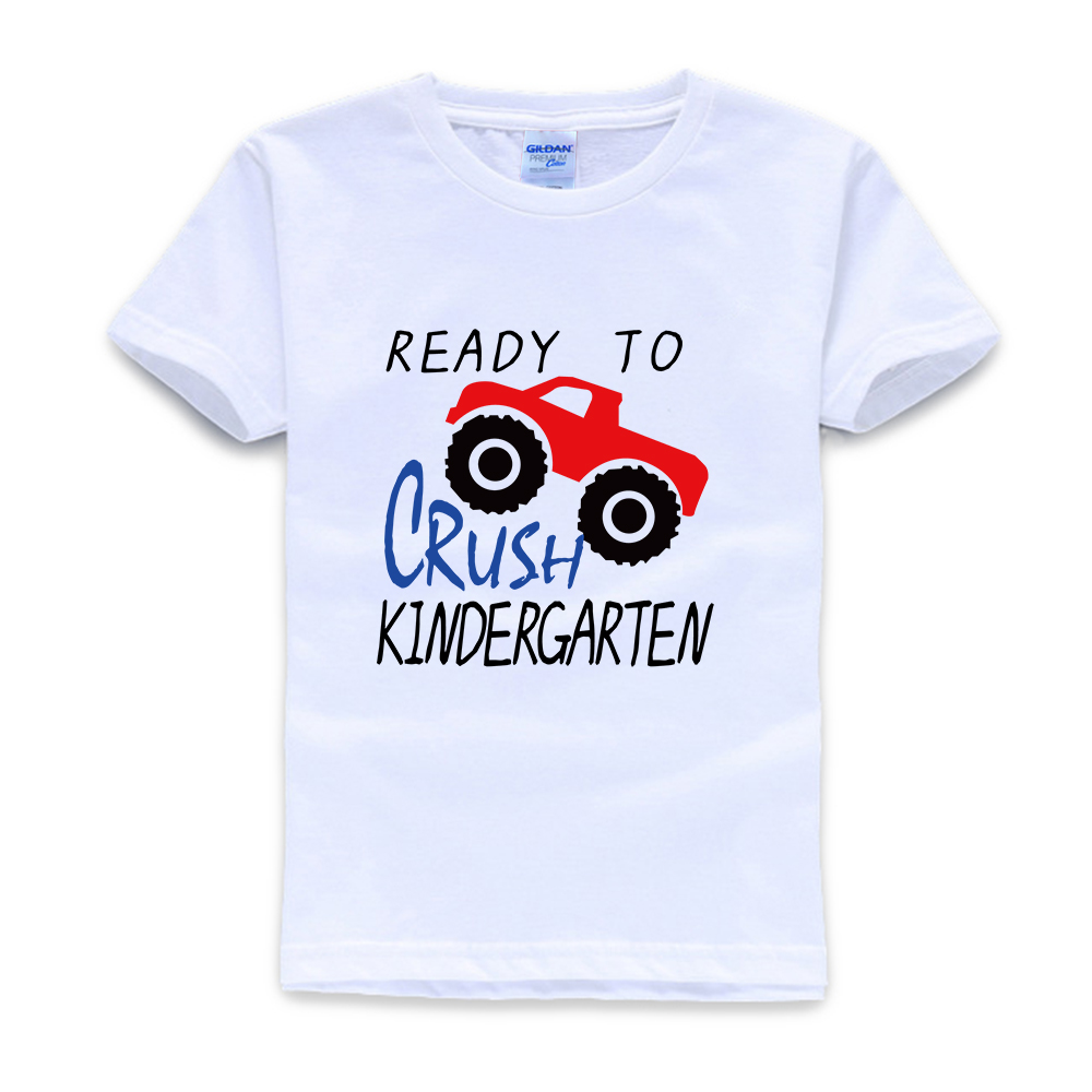 Ready to Crush Kindergarten T-shirt Back to School Boys T-Shirt First Day of School T-Shirt Monster Truck Shirts Shirt for boys