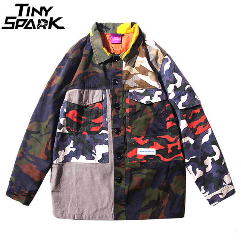 905b199ae Detail Feedback Questions about Mens Camouflage Jackets Hip Hop ...