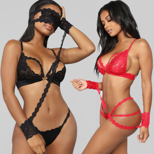 <font><b>Sexy</b></font> <font><b>Underwear</b></font> Women's Lace See-through Bandage Fashion High Quality <font><b>Bralette</b></font> Bra Brief Set <font><b>Intimate</b></font> <font><b>Sexy</b></font> <font><b>Lingerie</b></font> Lace image