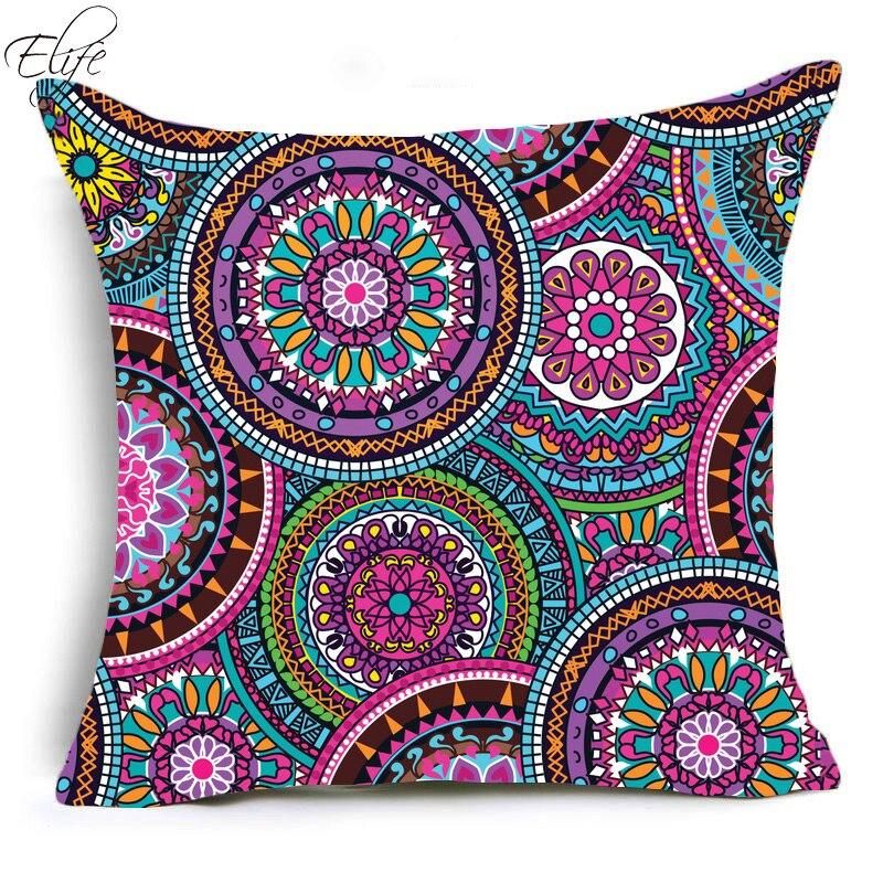 Bohemian mandala pillow case cover sofa waist cushion cover Home Decor 45x45CM