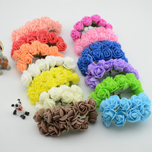 144pcs/lot Simulation Mini Rose Artificial flower foam flower flower ball garland headdress wedding decoration Bridal Flowers(China)