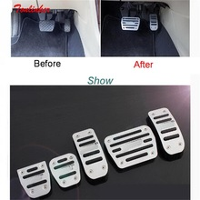 2-3 pcs DIY New Aluminum car styling refit accelerator brake pedal cover case For Volkswagen vw new POLO parts accessories