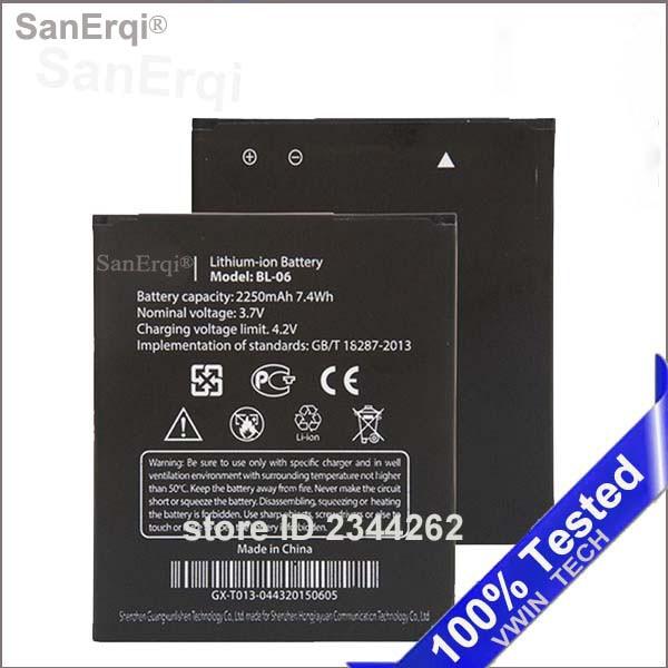100% Новые sanerqi телефон Батарея bl-06 bl06 BL 06 для <font><b>THL</b></font> T6 Pro T6s <font><b>T6C</b></font> большой Ёмкость 2250 мАч Батарея