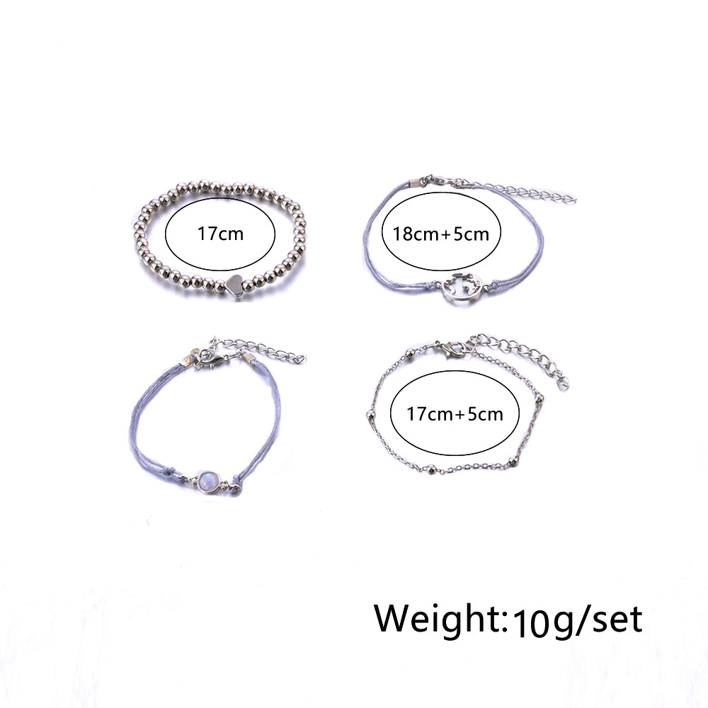 9 Styles Charmelry Bohemian Heart Map Turtle Bracelet Set  Retro Bracelets & Bangles Beads Statement Female Glamour Jewelry Gift