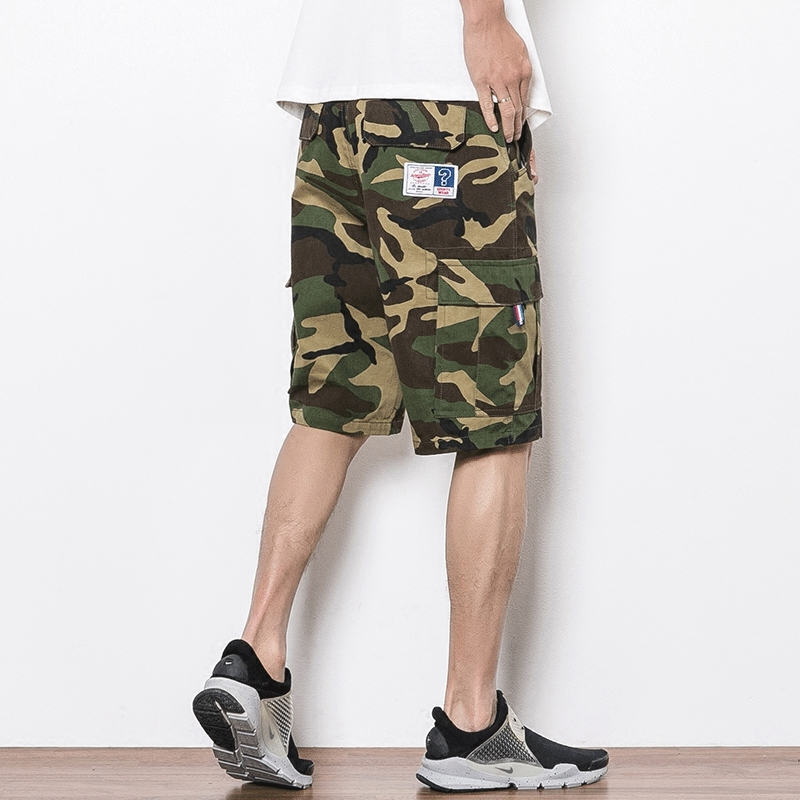 2018 summer Pantalon Corto Hombre Military Shorts Short Masculino 5XL Cargo Camouflage Cargo Shorts For Men Plus Size Zipper