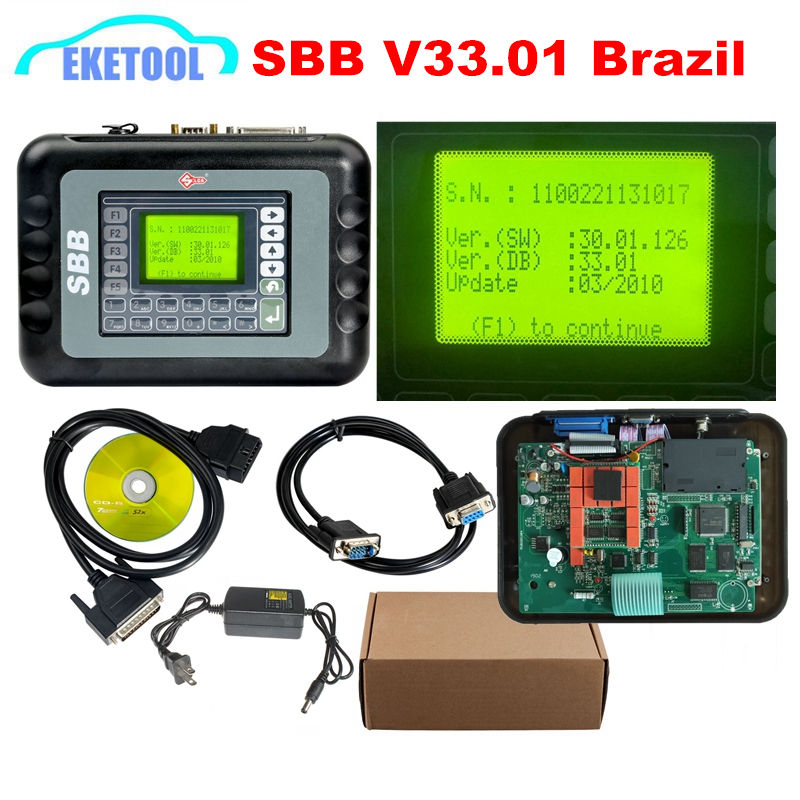V33 01 Brasil Car Key Maker Programmer Real Version 30 01 126 SBB 33 01 For