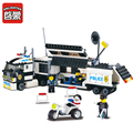 ENLIGHTEN 325Pcs Police Truck Building Blocks Sets playmobil Educational DIY Bricks Kids Toys For Children Gift