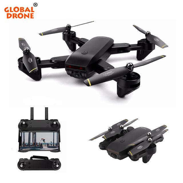 Global Drone RC Dron with Dual HD Camera Optical Flow Position Hover Quadrocopter FPV Selfie Auto Follow Drones with Camera HD