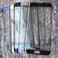 1 unids nuevo original para samsung galaxy s7 edge g935 g935f g935a pantalla frontal exterior de la lente de cristal negro/azul/blanco/plata/rosa/oro