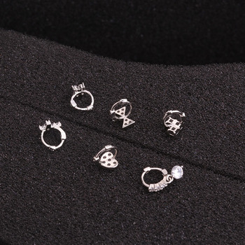 Feelgood New Tiny Cartilage Hoop With Cubic Zirconia Flower Cross Heart Bow Small Tragus Hoop Earring 2