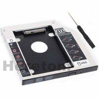 Heretom Alumínio Universal 9.5 milímetros 12.7 milímetros SATA para SATA 2nd HDD SSD Caddy para o Portátil DVD CD-ROM Optical Bay optibay