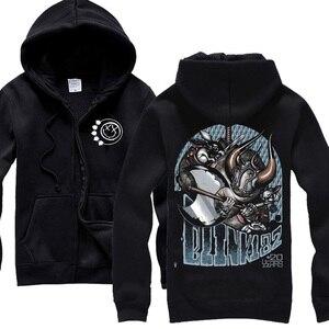 Image 5 - 13 design blink 182 Sweatshirt Cute Rabbit illustration clothing hoodies punk heavy metal Rock sudadera tracksuit skateboard