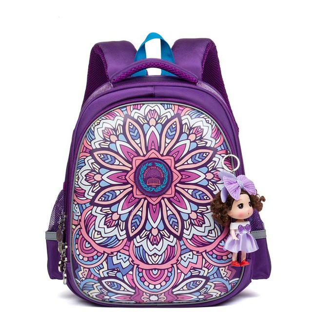 цены  NEW 2017 Children School Bags For Girls Waterproof Orthopedic Backpack Cartoon Cat and Flower Book Bag Knapsack Mochila Escolar