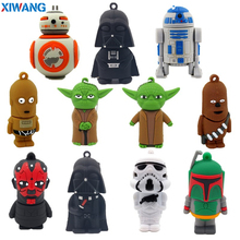 XIWANG USB2.0 Flash Drive 32GB Cartoon Star Wars Pendrive 64GB 4GB 8GB 16GB 128GB Pen drive USB Flash Memory Stick free shipping