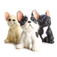Здесь можно купить   Small French Bulldogs Figure Cute Creative Simulation Dogs Office Lucky Decorations Home Decor