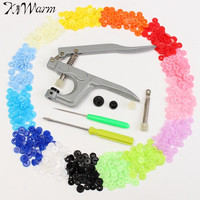 15 Colors 150 Set T5 Snap Scrapbooking Plastic Resin Snap Buttons Cloth Diaper And Button Fastener