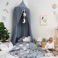 Kids Hung Dome Mosquito net Kids Bed Curtain Canopy Round Crib Netting Tent Photography Props Baldachin For Hammock Dropshipping