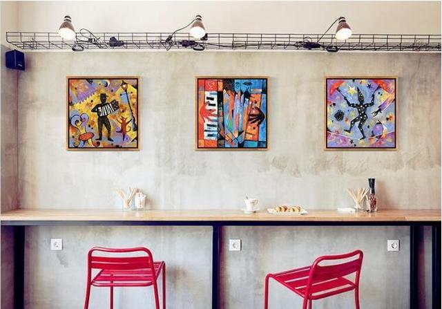 Slaapkamer Met Kunstmuur : Wachten zen multi joint ingang muur decoratieve abstracte