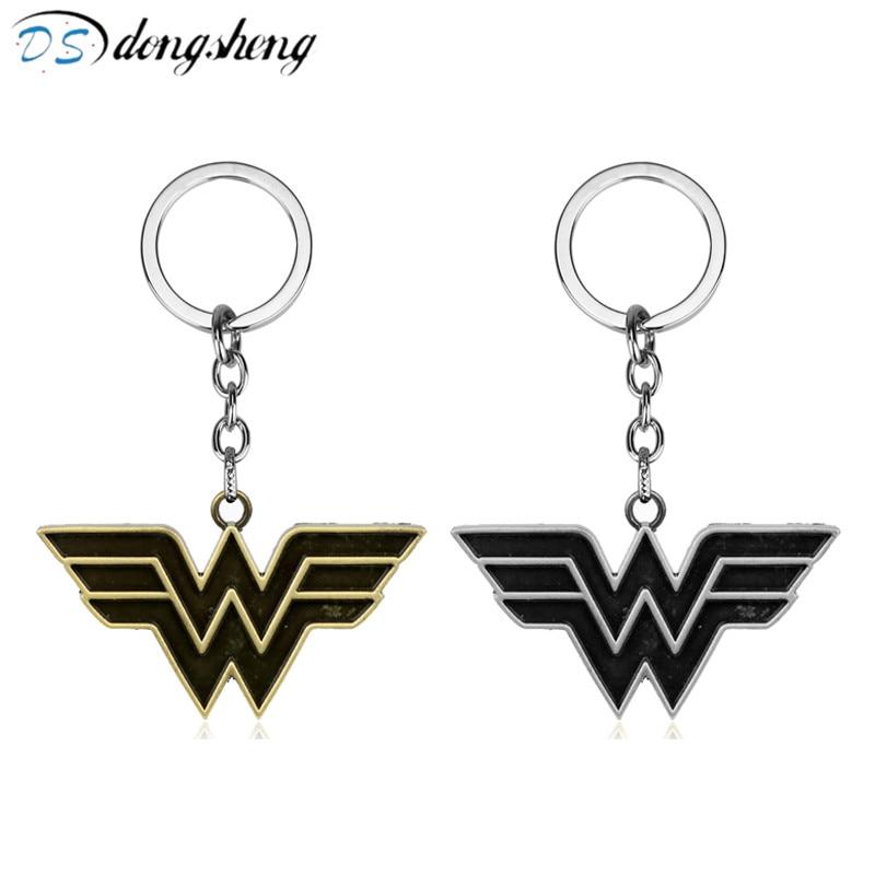 Movie Superhero Wonder Woman Keychain for Car Super Heros Alloy Pendant Key Chain Ring Holder Jewelry Accessories Chaveiro -50