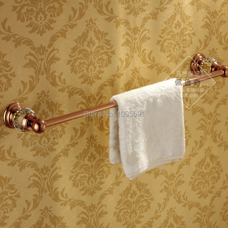 все цены на Brass & Crystal  Rose Gold Single Towel Bar,Towel Holder,Towel rack Bathroom Accessories ,PVD-Ti Rose Gold Finished