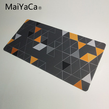 лучшая цена MaiYaCa Mouse pad For Steelseries mouse Triangle wallpaper Extended large gaming Mouse pad for keyboard and mouse 900*400mm