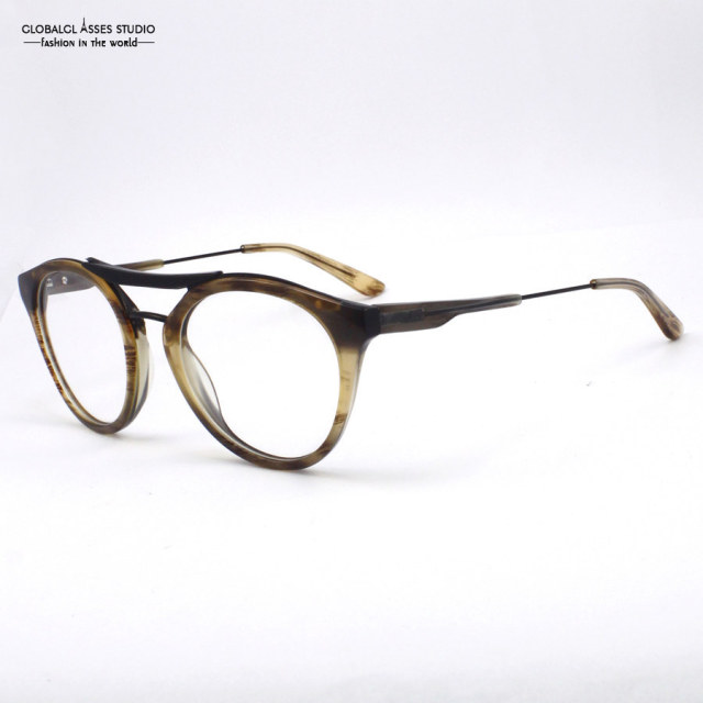 fea537fff8 Lastest Design Brand special Stylish gradient Brown acetate with eyebrow  Clean Lens Glasses Frame Eyeglasses