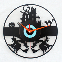033125 Wall Clock Safe Modern Design Digital Vintage Large Led Kitchen Decorative Mirror Gift Harry Potter