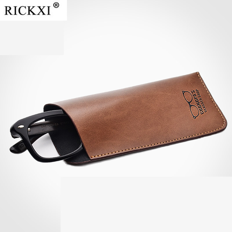 New Reading Glasses Bag Protectable Eyewear Pouch Eyeglasses Accessories PU Leather Bags