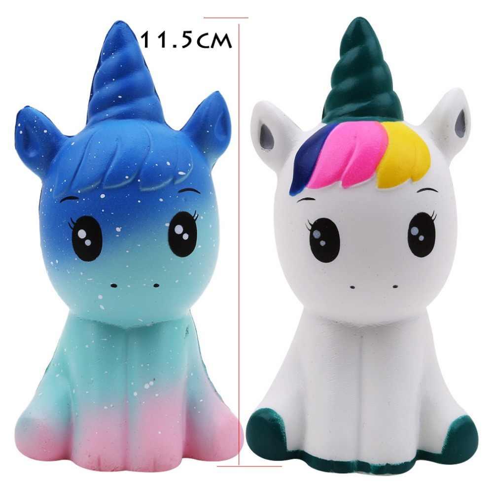 Jumbo Kawaii Licin Lambat Rising Donat Unicorn Warna-warni Lembut. Squishy Hewan Besar Licin Squeeze Menyenangkan Antistress Mainan untuk Anak