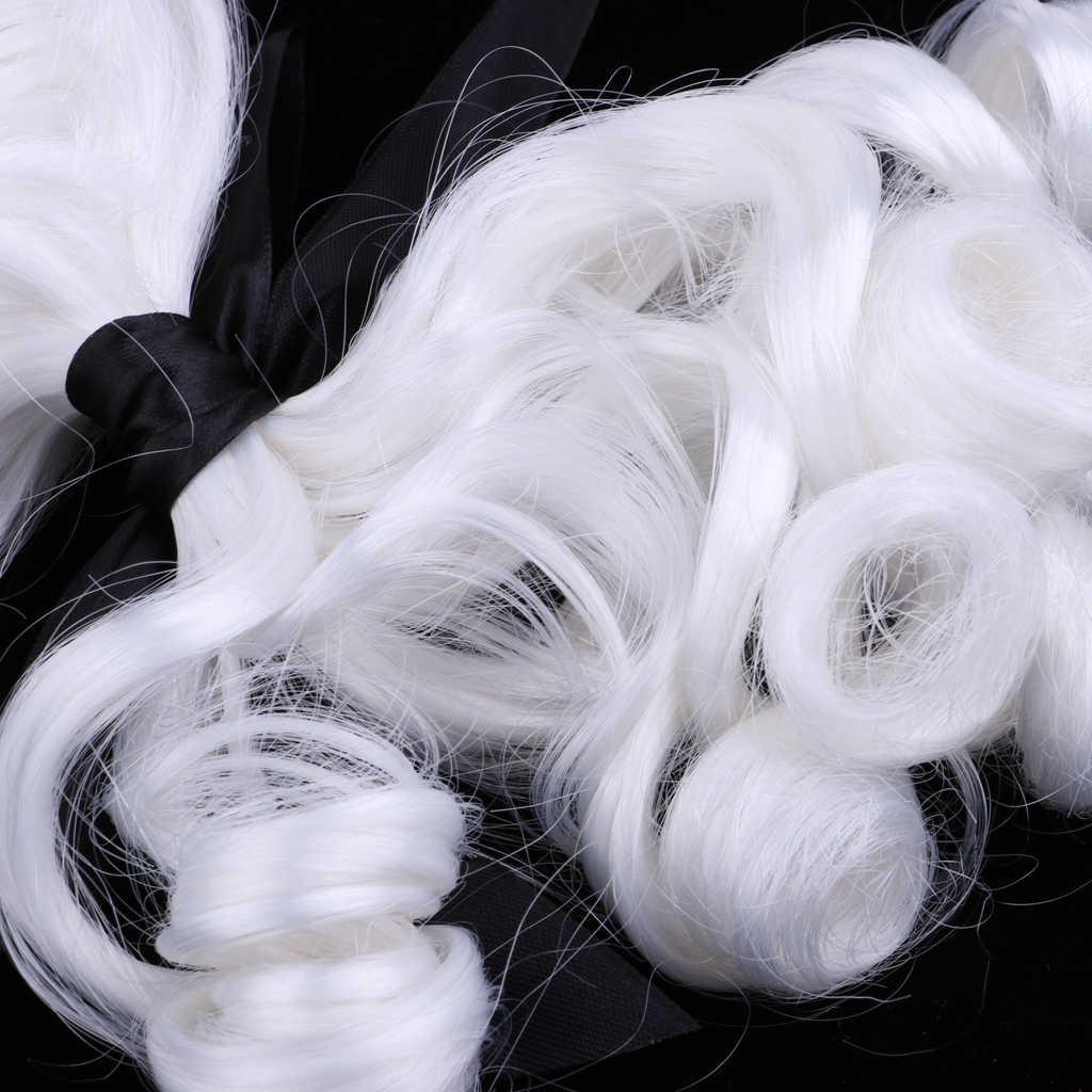 Biała barokowa peruka męska kolonialna peruka Halloween Cosplay DIY Making akcesoria na impreza z okazji Halloween Fance Dress Cosplay