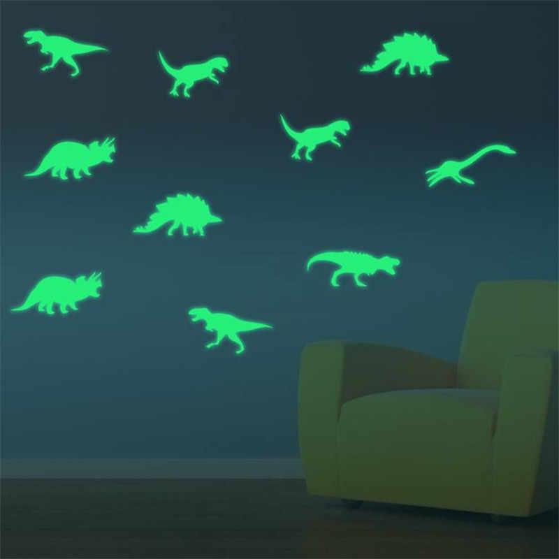 1 paket (9 adet) dinozorlar parlıyor karanlık duvar Sticker çocuk odası için aydınlık çıkartmalar bebek çocuk aşk sıcak satış 2020