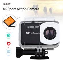 Boblov B1 Free 3x Battery Digital 4K WIFI Sports Action Camera 1080p 2.45″HD LCD Video Waterproof Camcorder Helmet Wireless HDMI