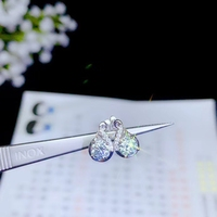 dazzling moissanite gemstone earrings with attractive character for women 2