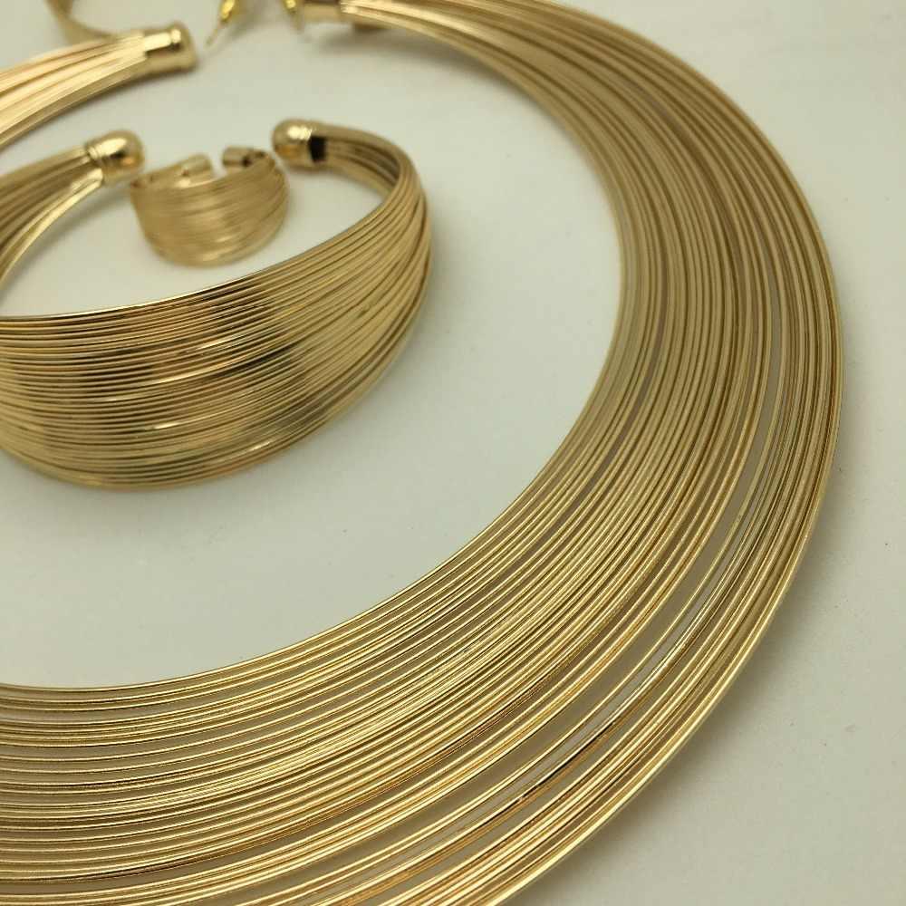 BAUS Eritrea Dubai indische arabische gold schmuck-Set Äthiopischen Gold farbe Nigerianischen Hochzeits afrikanische perlen schmuck set äthiopischen gold