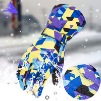 VECTOR Men Women Ski Gloves Warm Waterproof Windproof Skiing Snowboard Gloves Outdoor Sports Riding Snowmobile Gloves