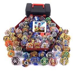 79 Pcs conjunto caixa de armazenamento de Brinquedos Todos Os modelos Tops Toupie Beyblade Lançadores Deus Explosão de Metal Spinning Top Bey Lâmina Lâminas baía de brinquedo lâmina