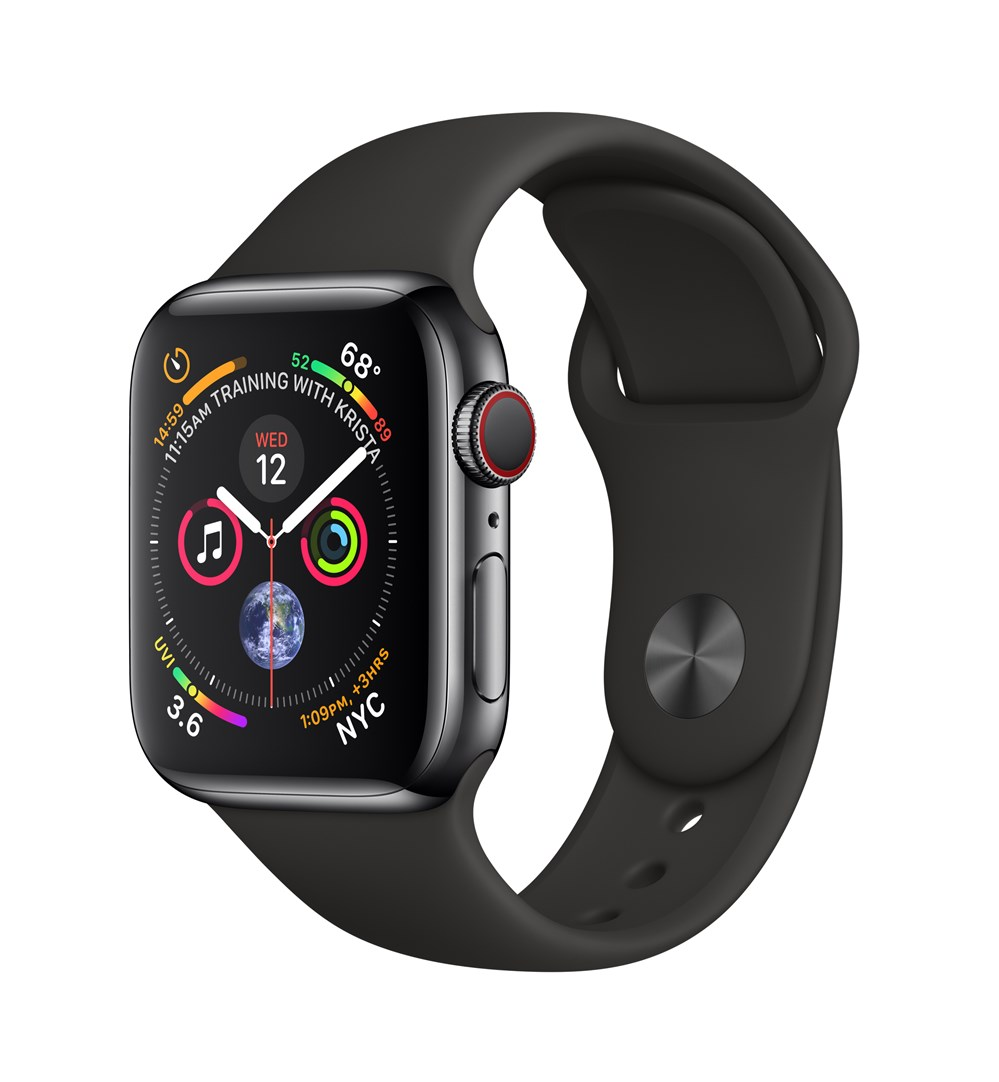 Apple Watch Watch Series 4, OLED, Touchscreen, GPS (satellite), Cellular, 39.8 g, BlackApple Watch Watch Series 4, OLED, Touchscreen, GPS (satellite), Cellular, 39.8 g, Black