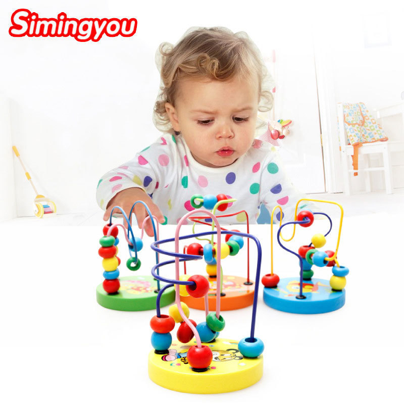 Simingyou Counting Circles Bead Abacus Wire Maze Roller Coaster Wooden Montessori Educat ...