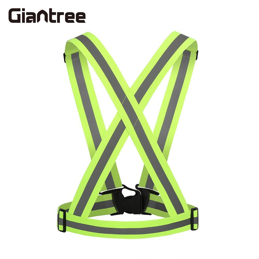 giantree High Bright Adjustable Reflective Vest Jacket Cycling Visibility Reflective Outdoor Safety running Reflective fabricgiantree High Bright Adjustable Reflective Vest Jacket Cycling Visibility Reflective Outdoor Safety running Reflective fabric
