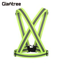 giantree High Bright Adjustable Reflective Vest Jacket Cycling Visibility Reflective Outdoor Safety running Reflective fabric