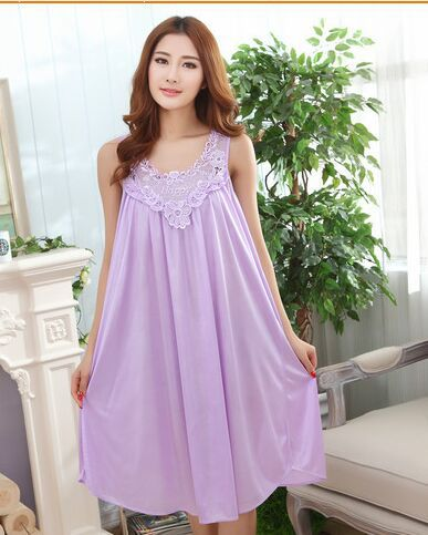 2019   nightgown   fashionable sweet summer style   sleepshirt   sleeveless sleepwear AW800091
