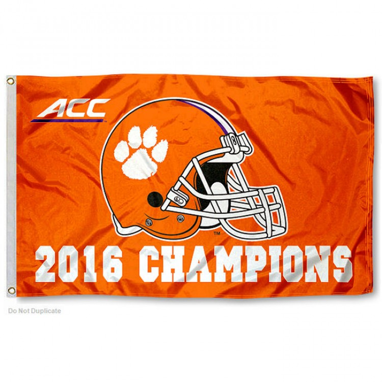Clemson university 2016 national champs official logo flag